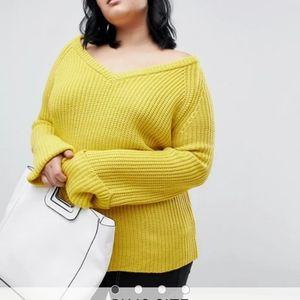 Yellow chunky sweater